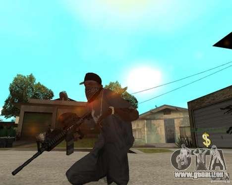 M16 de très haute qualité pour GTA San Andreas troisième écran