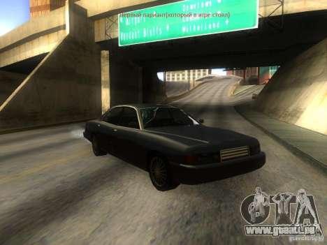 Merit Coupe pour GTA San Andreas vue intérieure