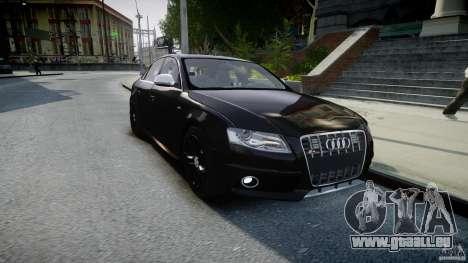 Audi S4 Unmarked [ELS] pour GTA 4 Vue arrière