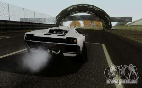 Lamborghini Diablo GTR TT Black Revel für GTA San Andreas zurück linke Ansicht