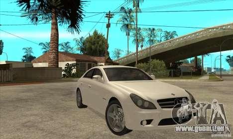 Mercedes-Benz CLS 63 AMG pour GTA San Andreas vue arrière