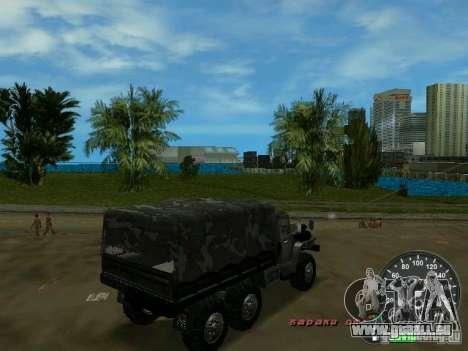 Ural 4320 militaire pour GTA Vice City vue arrière