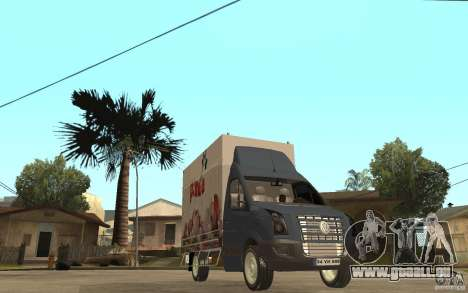 Volkswagen Crafter Ice Dream Box pour GTA San Andreas vue arrière