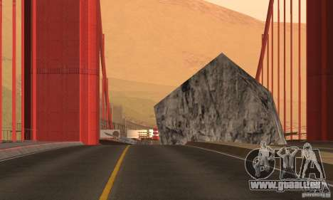 Zerstörte Brücke in San Fierro für GTA San Andreas dritten Screenshot