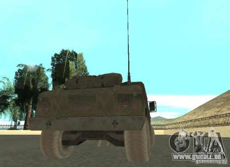Hummer Cav 033 für GTA San Andreas zurück linke Ansicht