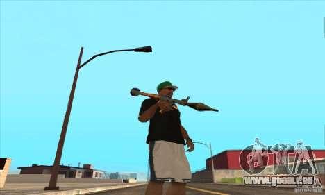 WEAPON BY SWORD pour GTA San Andreas huitième écran