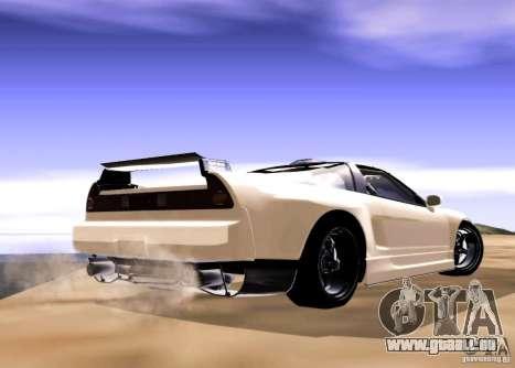 Acura NSX Tuned pour GTA San Andreas sur la vue arrière gauche