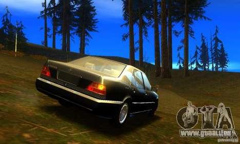 Mercedes-Benz 600SEL v2.0 pour GTA San Andreas laissé vue