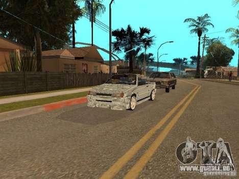 VAZ 2108 Convertible pour GTA San Andreas vue arrière