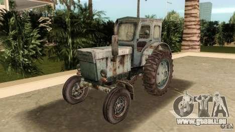 Traktor t-40 für GTA Vice City Rückansicht