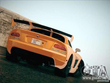 Dodge Viper SRT-10 ACR pour GTA San Andreas vue de côté