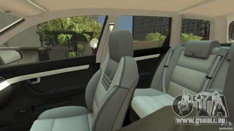 Audi A4 Avant beta pour GTA 4 est une vue de l'intérieur