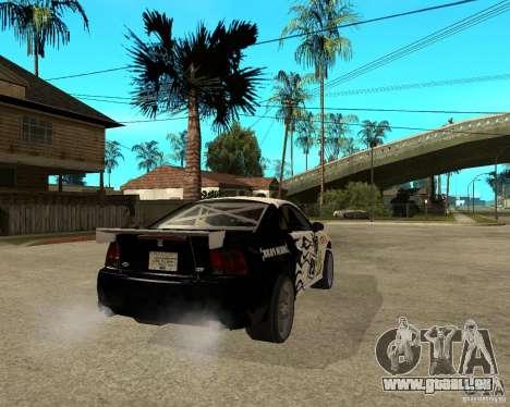 2003 Ford Mustang GT Street Drag für GTA San Andreas zurück linke Ansicht