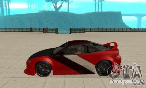 Mitsubishi Eclipse - Tuning pour GTA San Andreas laissé vue