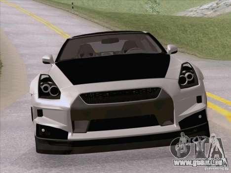 Nissan GTR Edited pour GTA San Andreas vue de droite