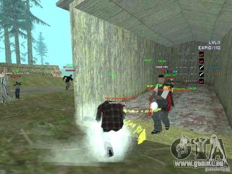 SA:MP 0.3d pour GTA San Andreas troisième écran