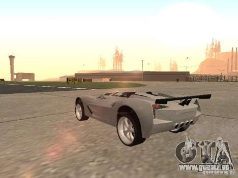 Chevrolet Corvette C7 Spyder für GTA San Andreas rechten Ansicht