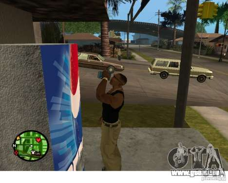 Distributeurs automatiques de Pepsi et plante pour GTA San Andreas