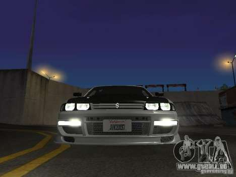 Nissan Skyline R33 SGM pour GTA San Andreas vue intérieure