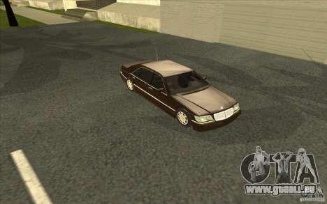 Mercedes-Benz S600 für GTA San Andreas obere Ansicht