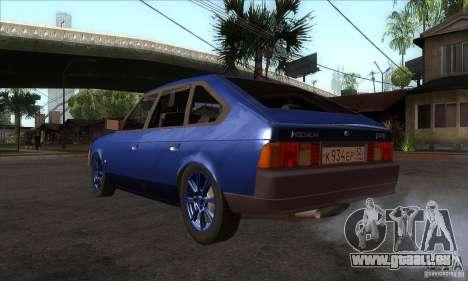 2141 AZLK personnes Edition pour GTA San Andreas sur la vue arrière gauche