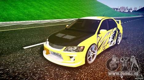 Mitsubishi Lancer Evolution pour GTA 4 Vue arrière