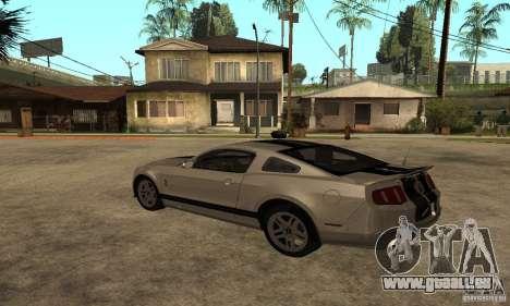 Ford Mustang Shelby 2010 pour GTA San Andreas laissé vue