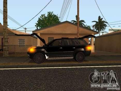 Jeep Grand Cherokee Black pour GTA San Andreas sur la vue arrière gauche