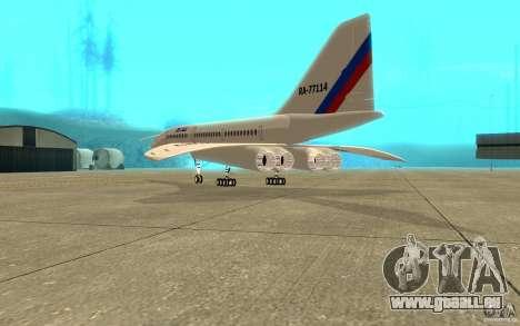 Tu-144 pour GTA San Andreas vue de droite