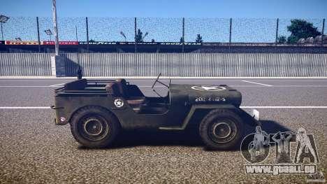Walter Military (Willys MB 44) v1.0 pour GTA 4 est une vue de l'intérieur