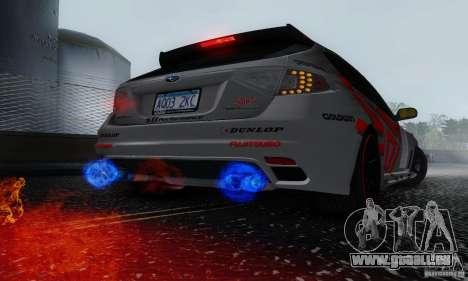 2008 Subaru Impreza Tuneable pour GTA San Andreas vue intérieure