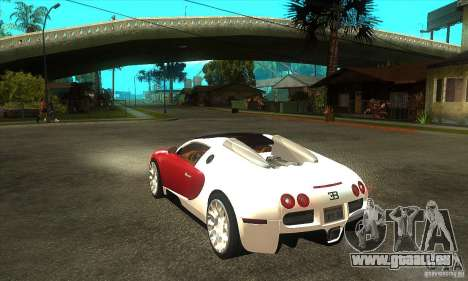 Bugatti Veyron Grand Sport für GTA San Andreas zurück linke Ansicht