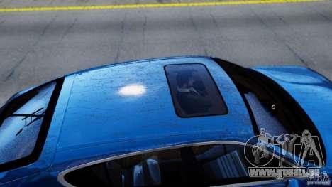 Porsche Panamera Turbo 2010 Black Edition pour GTA 4 Vue arrière