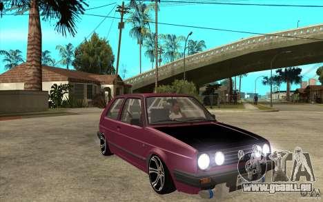 VW Golf 2 GTI pour GTA San Andreas vue arrière