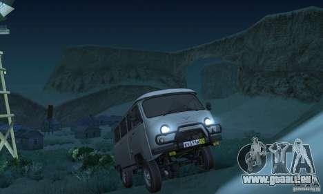 UAZ 2206 pour GTA San Andreas vue arrière
