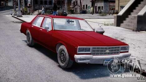 Chevrolet Impala 1983 v2.0 pour GTA 4 Vue arrière