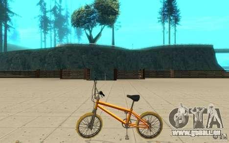 Zeros BMX YELLOW tires für GTA San Andreas linke Ansicht