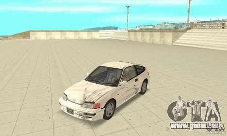 HONDA CRX II 1989-92 pour GTA San Andreas vue de côté
