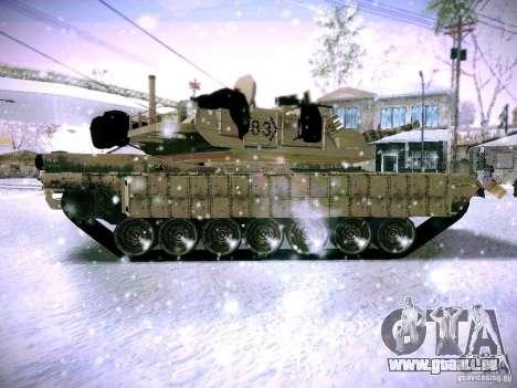 M1A2 Abrams de Battlefield 3 pour GTA San Andreas laissé vue