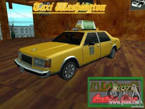 Taxi Washington pour GTA San Andreas sur la vue arrière gauche