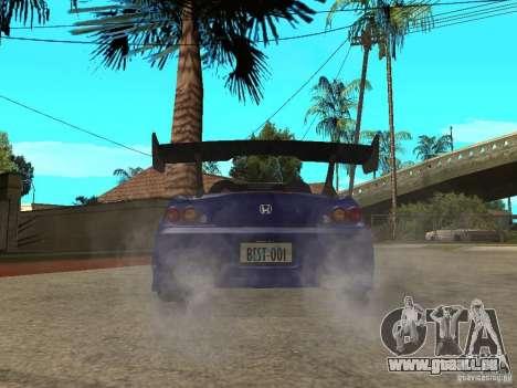 Honda S 2000 pour GTA San Andreas sur la vue arrière gauche