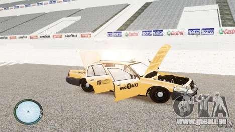Ford Crown Victoria 2003 NYC Taxi pour GTA 4 est un côté