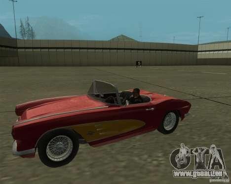 Chevrolet Corvette 1961 pour GTA San Andreas sur la vue arrière gauche