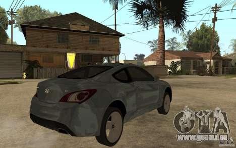 Hyundai Genesis Coupe 2010 pour GTA San Andreas vue de droite