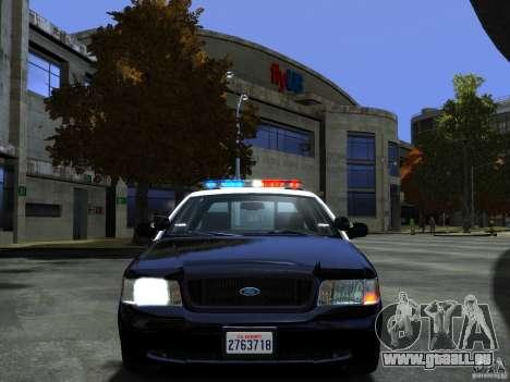 Ford Crown Victoria LAPD [ELS] pour GTA 4 Vue arrière