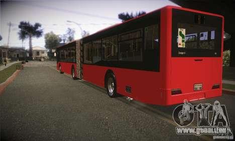 Design X3 GL pour GTA San Andreas sur la vue arrière gauche