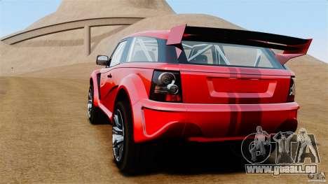 Bowler EXR S 2012 pour GTA 4 Vue arrière de la gauche
