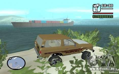 Toyota Land Cruiser 70 pour GTA San Andreas laissé vue