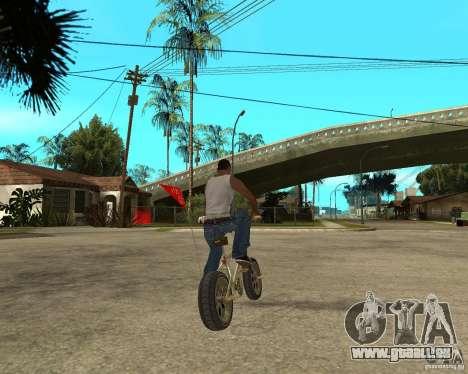 WideWheel-BMX 1 LOUIS VUITTON Version pour GTA San Andreas sur la vue arrière gauche