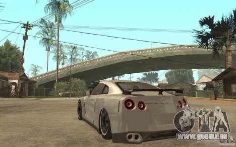 Nissan GTR SpecV 2010 für GTA San Andreas zurück linke Ansicht